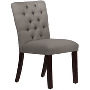 Skyline Furniture Mfg Tufted Chair in Linen Grey (68-6LNNGR)