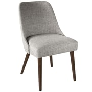 Skyline Furniture Rounded Back Accent Chair in Zuma Pumice (84-6ZMPMC)