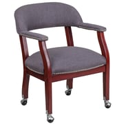 Flash Furniture Gray Fabric Luxurious Conference Chair with Silver Trim Nails and Casters (BZ100GY)