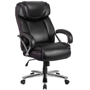 HERCULES Series 500 lb. Capacity Big & Tall Black Leather Executive Swivel Office Chair with Extra Wide Seat (GO2092M1BK)