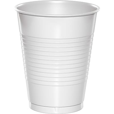 Touch of Color White 16 oz Plastic Cups, 50 pk (28000081B) 2634414