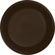 Touch of Color Chocolate Brown Plastic Plates, 20 pk (28303821)