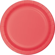 Touch of Color Coral Paper Plates, 24 pk (473146B)