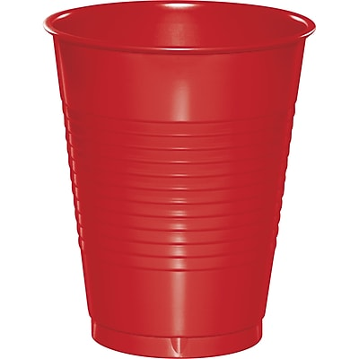 Touch of Color Classic Red 16 oz Plastic Cups, 50 pk (28103181B) 2634459