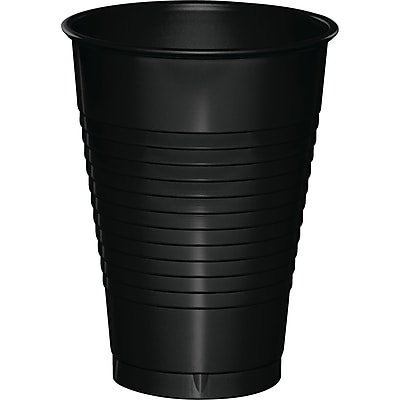 Touch of Color Black 12 oz Plastic Cups, 20 pk (28134071) 2634412