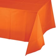 Touch of Color Sunkissed Orange Plastic Tablecloth (01192)
