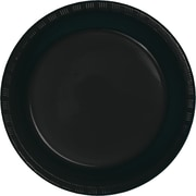 Touch of Color Black Plastic Plates, 20 pk (28134021)