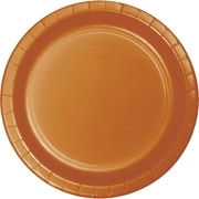 Touch of Color Pumpkin Spice Orange Paper Plates, 24 pk (323386)