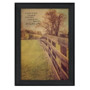"TrendyDecor4U Life Goes On -12""x18"" Framed Print (KJ378-405)"