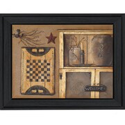"TrendyDecor4U Country Treasures-16""x12"" Framed Print (BR148-405)"