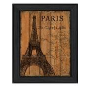 "TrendyDecor4U Paris Travel Poster -12""x16"" Framed Print (DEW407-405)"