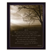 "TrendyDecor4U Life Is-16""x20"" Framed Print (DD523-712)"
