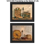 "TrendyDecor4U Friendship is the Spice of Life -2- 16""x12"" Framed Print (V310-405)"
