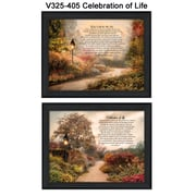 "TrendyDecor4U Celebration of Life -2-16""x12"" Framed Print (V325-405)"