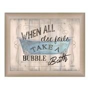 "TrendyDecor4U Take a Bubble Bath -16""x12"" Framed Print (DEW396-636ML)"
