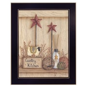 """TrendyDecor4U Country Kitchen-11""""x14"""" Framed Print (MARY269-712)"""