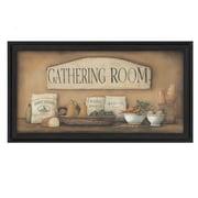 "TrendyDecor4U Gathering Room-30""x16"" Framed Print (BR254-405)"