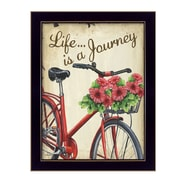 "TrendyDecor4U Life is a Journey -12""x16"" Framed Print (DEW425-712)"