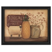 """TrendyDecor4U Country Neccessities-24""""x18"""" Framed Print (BR152-405)"""