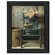 "TrendyDecor4U This Old Chair -12""x16"" Framed Print (BOY375-405)"