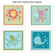 "TrendyDecor4U Children's Room Collection-4""x12""x12"" Framed Print (V306-712W)"