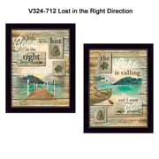 "TrendyDecor4U Lost in the Right Direction-2""x""12""x""16"" Framed Print (V324-712)"