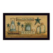 "TrendyDecor4U Welcome to Our Farm House -18""x9"" Framed Print (MARY472-712)"