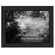 "TrendyDecor4U Beauty -Grayscale Framed Print -12""x16"" Framed Print (ME04C-405)"