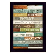 "TrendyDecor4U Today is a New Day -8.5""x12.25"" Framed Print (MA852E-712)"