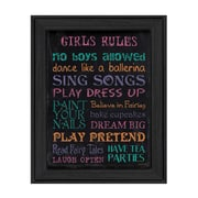 "TrendyDecor4U Girl's Rules -12""x16"" Framed Print (DEW209-405)"