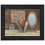 "TrendyDecor4U Country Bath -14""x11"" Framed Print (BR207-405)"