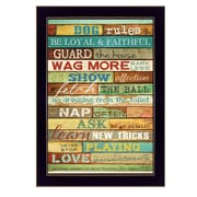 "TrendyDecor4U Dog Rules -8.5""x12.25"" Framed Print (MA968E-712)"