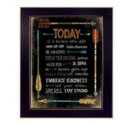 "TrendyDecor4U Today is a Brand New Day -18""x24"" Framed Print (MA2046A-712)"
