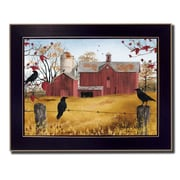 "TrendyDecor4U Autumn Gold -24""x18"" Framed Print (BJ1037A-712)"