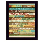 "TrendyDecor4U Dog Rules -16""x20"" Framed Print (MA968A-712)"