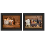 "TrendyDecor4U Baking Supplies -2-16""x12"" Framed Print (V180-405)"