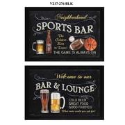 "TrendyDecor4U Sports Bar -2-18""x12"" Framed Print (V217-276)"