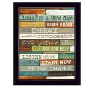 "TrendyDecor4U Today is a New Day -18""x24"" Framed Print (MA852D-712)"