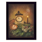 """TrendyDecor4U Christmas Eve, Cookies for Santa, pine cones, candle -12""""x18,"""" Framed Print (RLV149-712)"""