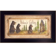 "TrendyDecor4U Nature's Calling-18""x10"" Framed Print (MARY291-712)"