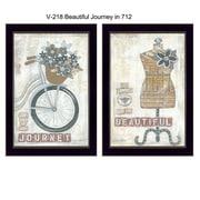 "TrendyDecor4U Beautiful Journey-2-12""x18"" Framed Print (V218-712)"