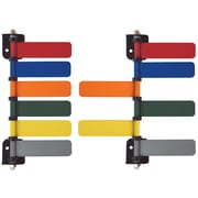 Omnimed Standard  Room 6-Flag System, 4 Inch Wide Flags, 180 Degree Rotation, Painted Aluminum  (291708)