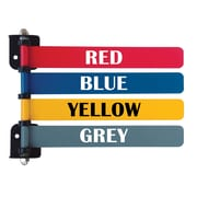 Omnimed Custom 4-Flag System , 8 Inch Wide Flags, Two Side Printed , Painted Aluminum (291714CP2)