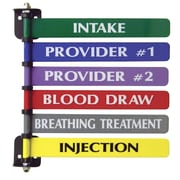 Omnimed Custom 6-Flag System, 8 Inch Wide Flags, Two Side Printed, Painted Aluminum (291716CP2)