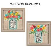 "TrendyDecor4U Mason Jars II -2-12""x16"" Framed Print (V225-636ML)"