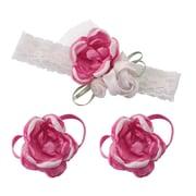 Lillian Rose Baby Headband & Barefoot Sandals - Hot Pink (24HB100 HP)