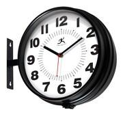 "Infinity Instruments 10.75""H x 13""L x 4.25""D Black Clock (15134BK-4167)"