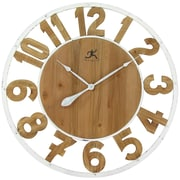 "Infinity Instruments 31.5""H x 31.5""L x 1.75""D White Clock (15220)"