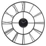 "Infinity Instruments 45.25""H x 45.25""L x 2.25""D Black Clock (15268BK)"