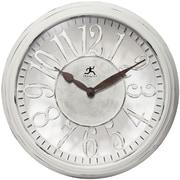 "Infinity Instruments 15""H x 15""L x 3.25""D White Clock (15308WW-AR)"
